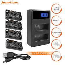 <b>Powtree</b> NP-F570 Battery or Charger for <b>Sony</b> NP-F330 NP-F550 ...
