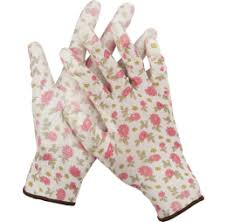 <b>Перчатки садовые GRINDA</b> прозрачное PU покрытие, 13 класс ...
