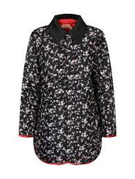 <b>N21</b> черное стеганое <b>пальто</b> с цветочным узором (477955). Цена ...