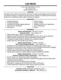 administrator resume sample new school administrator legacy gallery of junior systems administrator resume