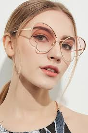 Pink Flat Lens <b>Metal Full Frame</b> Ombre Butterfly <b>Sunglasses</b> in 2021 ...