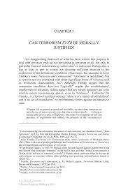 can terrorism ever be morally justified springer inside