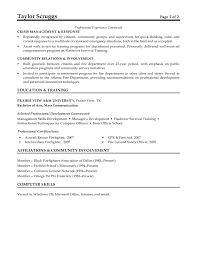 fire lieutenant resume template fire lieutenant resume