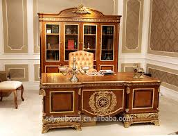0062 antique solid wood furniture latest office table design classic office table antique office table