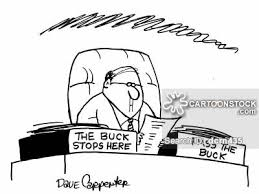 Image result for the buck stops here meaning