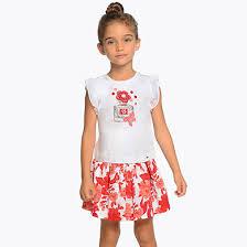 <b>Комплект</b>: <b>блузка и</b> юбка для девочки Красный - <b>Майорал</b>