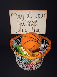 I made this gift basket for my boyfriends first basketball game of the ...