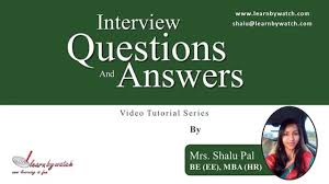 interview questions and answers series by shalu pal video  interview questions and answers series by shalu pal video 2 english video dailymotion