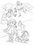 Раскраска зимняя природа распечатать