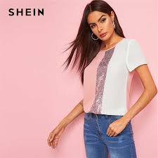 SHEIN Colorful <b>Striped</b> Knotted Front Top Womens Tops and ...