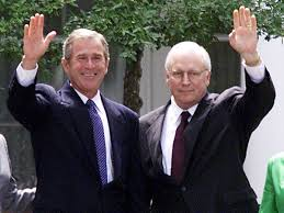 Image result for president bush vice president cheney with names