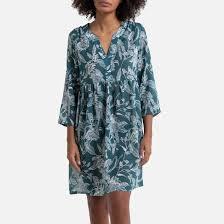 Рубашка <b>ночная</b> из вуали с цветочным принтом зеленый ...