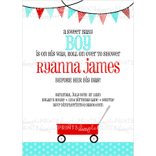 red wagon printable invitation dimple prints shop red wagon printable invitation 10 personalized digital printable invitation