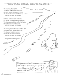 coloring page poems the tide rises the tide falls by longfellow coloring page poems the tide rises the tide falls by longfellow