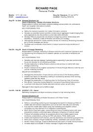 cover letter profile for resume sample sample profile for resume cover letter example resume sample software nice pharmaceutical s management for personal profile profesional experience and