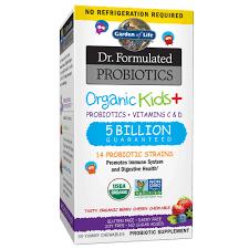 Garden of Life <b>Dr</b>. <b>Formulated Probiotics Organic</b> Kids Berry Cherry ...