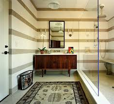 great idea convert an old credenza into a bathroom vanity this is midcentury modern bathroom mid century