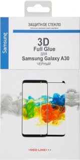 <b>Стекло Защитное</b> RedLine Samsung Galaxy A30 3D <b>Full</b> Glue ...