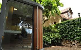 its modular design enables speedy construction even in gardens with the most difficult access backyard home office pod