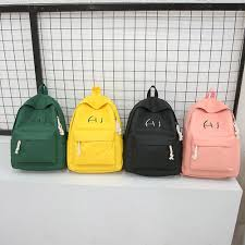 <b>Unisex Canvas Letter Backpack</b> Outdoor Travel Backpack Student ...