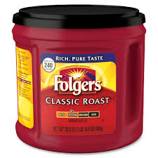 folgers 20421 canister classic roast coffee regular arabica view all folgers products