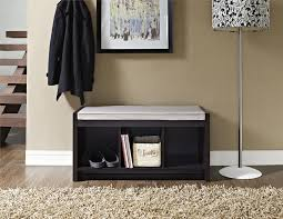 storage bench for living room: ameriwood furniture penelope entryway storage bench with cushion espresso
