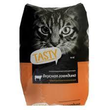 Сухой корм <b>Tasty для взрослых кошек</b>, говядина, 10 кг (2879592 ...