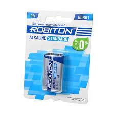 <b>Батарейка Robiton standard</b> 6LR61 BL-1 (10)(240) купить оптом