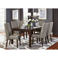 modern wood dining room sets:  brown and gray  piece modern dining set kavanaugh collection