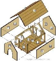 """Free Dog House Plans  Peaked Roof  A Frames  Dog Shelters    Dog Kennel for Large Dogs """""""