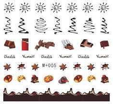 10 шт Новые конфетные наклейки водяные <b>наклейки для ногтей</b> ...