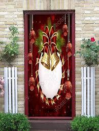 <b>Christmas Balls</b> Bells <b>Print</b> Decorative Door Art Stickers in 2020 ...