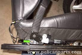 then remove t50 torx seat belt buckle fastener green arrow bmw z3 set 2 seats