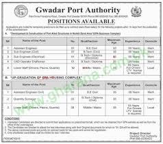 cpec gwadar port authority jobs 2017 gda latest career cpec gwadar port authority jobs