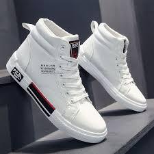 Fashion <b>Men's PU Leather</b> Cool Boots Shoes-White | Jumia Nigeria