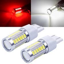 <b>2pcs</b> Strobe LED T20 flash P21 / 5W <b>BAY15D</b> 1157 1156 7443 5630 ...