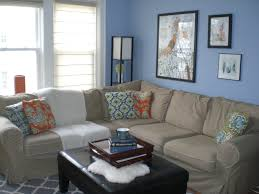 f astonishing light blue wall colors themes modern small living room design with lovely picture frame decor also brown slipcover fabric corner sofa using astonishing colorful living