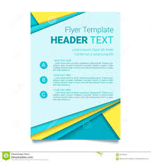 yellow modern vector flyer template design stock vector image creative flyer template modern poster brochure business template in a material design style