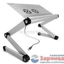 Подставка столик под ноутбук <b>crown</b> micro <b>cmls 100</b> (<b>silver</b>) 21 в ...
