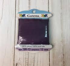 <b>SR</b>-<b>13 13</b> мм <b>Лента</b> декоративная <b>Gamma</b> шелковая №126 т ...