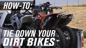 How To <b>Tie Down</b> A Dirt <b>Bike</b> - YouTube