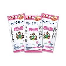 <b>Kirei Kirei</b> Wet Sheets Disinfection Non Alcohol 30 Sheets x 3 Packs ...