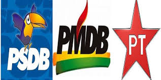 Resultado de imagem para siglas dos partidos politicos no brasil