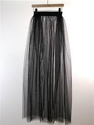 <b>Women Summer</b> White Black <b>Tulle</b> Overskirt Maxi <b>Tutu Tulle Skirt</b> ...