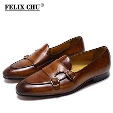 <b>FELIX CHU</b> Genuine Leather Mens Loafer Shoes Hand Painted ...