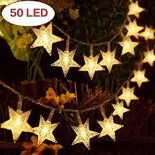 <b>Star Fairy Lights</b>, <b>Battery</b> Operated <b>String Lights</b> 7.5m/ 25ft 50 LED ...