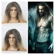 Movie <b>Aquaman Arthur Curry</b> Orin <b>Cosplay</b> Wig Jason Momoa Men ...
