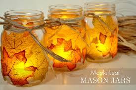 jar crafts home easy diy:  leaf mason jar candle holder from mason jar