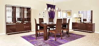 Full Dining Room Sets Dark Round Wooden Dining Table And White Wooden Dining Chairs On