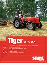 308 8143 3 1 1 <b>tiger 60</b> 80 4 euro ii en by SAME - Tractors - issuu
